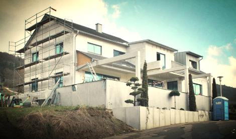 Effizienzhaus 40 Plus, Offenhausen, Massivhaus, KFW, Pilotprojekt