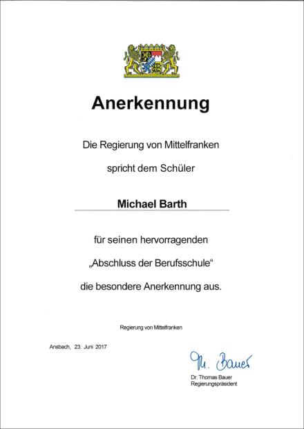 Anerkennung Ausbildung