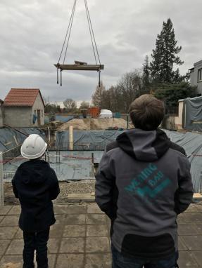 Grundsteinlegung, Rohbau, Nürnberg, Betonarbeiten