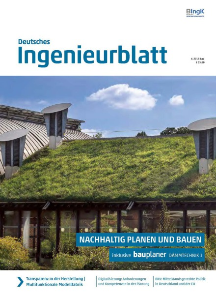 Deutsches Ingenieurblatt, Aktuelles, News, Artikel, Bericht, Presse, Fachtzeitschrift, Effizienzhaus 40plus, Massivhaus Plus